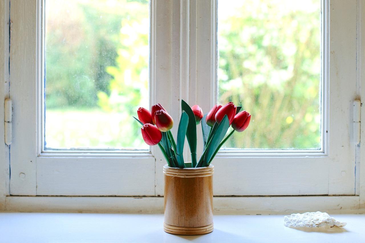 Ablak és tulipán